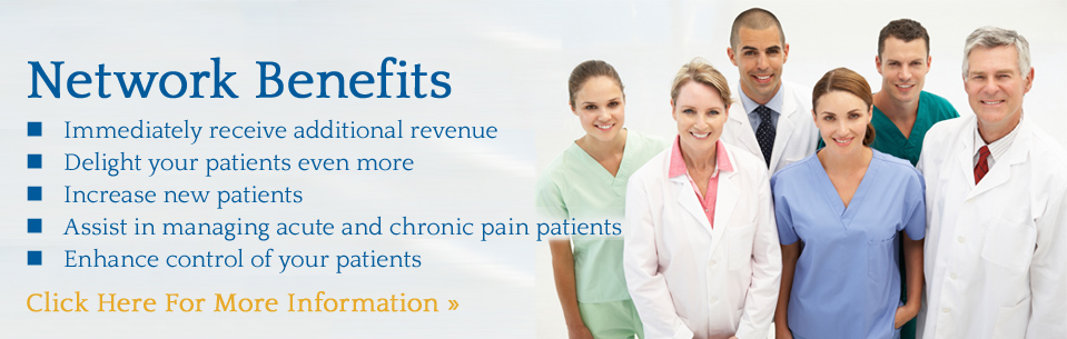 Analgesic Healthcare Network Benefits